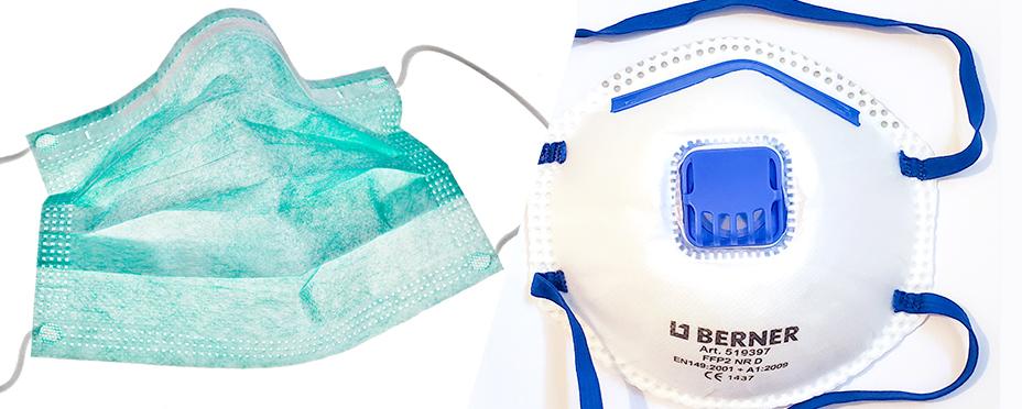 Diferencias clave entre las máscaras y los respiradores