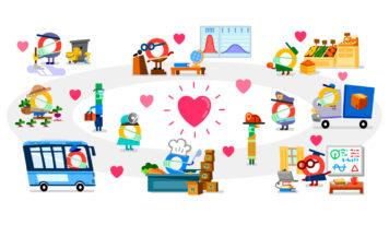 Google le dedica su doodle a «todos los que estáis ayudando» durante la crisis de la Covid-19