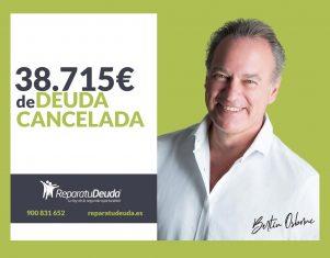 Repara tu Deuda cancela 38.715 € en Valladolid  (Castilla y León) con la Ley de Segunda Oportunidad