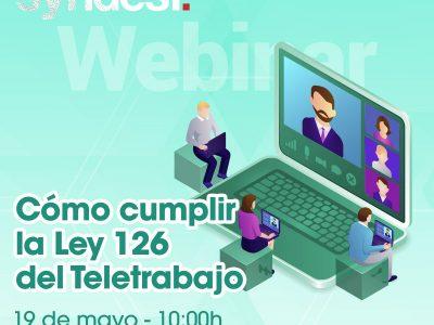 Syndesi Consulting celebra el webinar  «Cómo cumplir la ley 126 del teletrabajo»