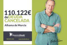 Repara tu Deuda cancela 110.122€ con deuda pública en Alhama de Murcia con la Ley de la Segunda Oportunidad