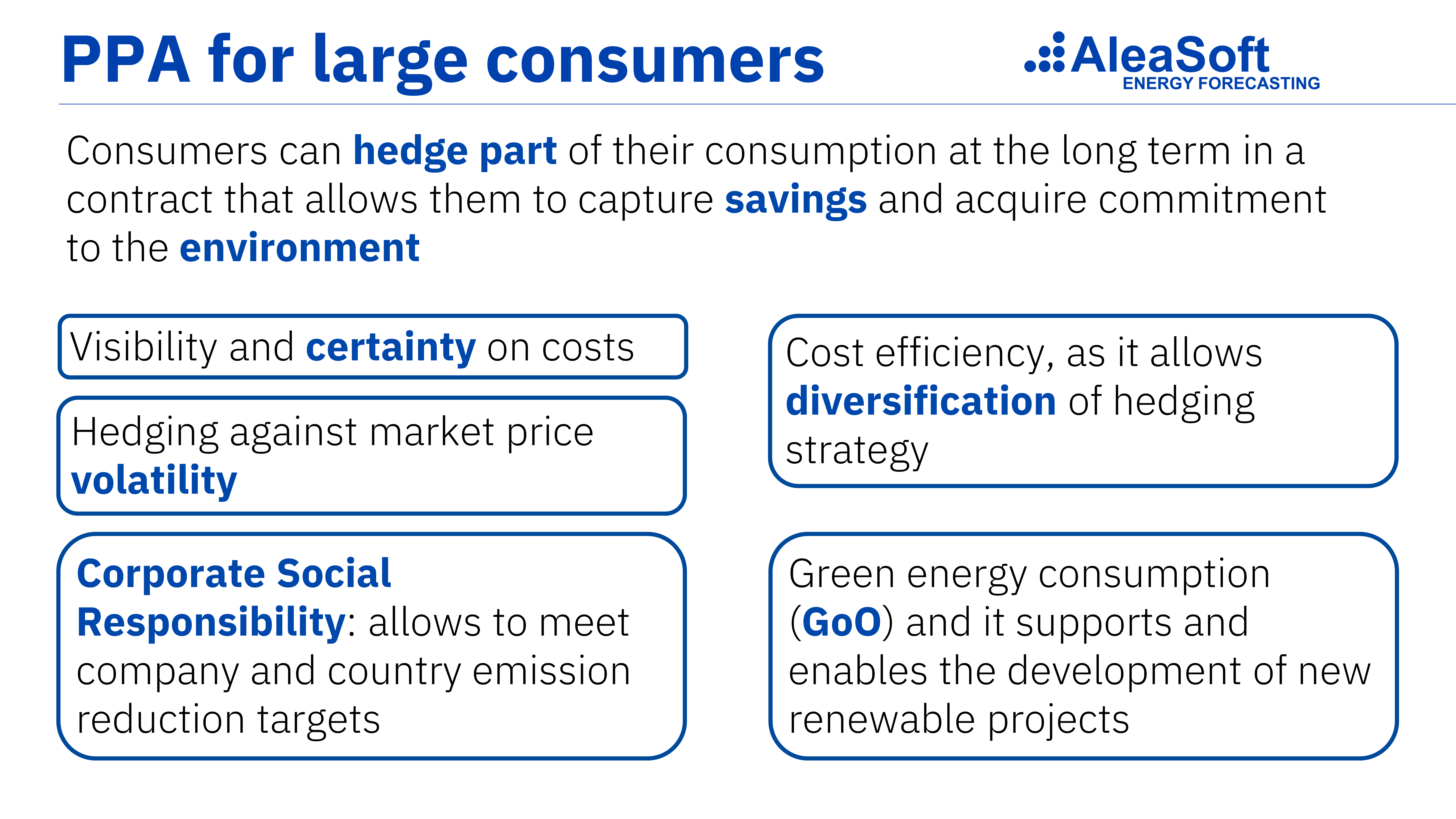 """AleaSoft: """"Los PPA pueden ayudar a la industria electrointensiva, pero deben ser a precios competitivos"""""""