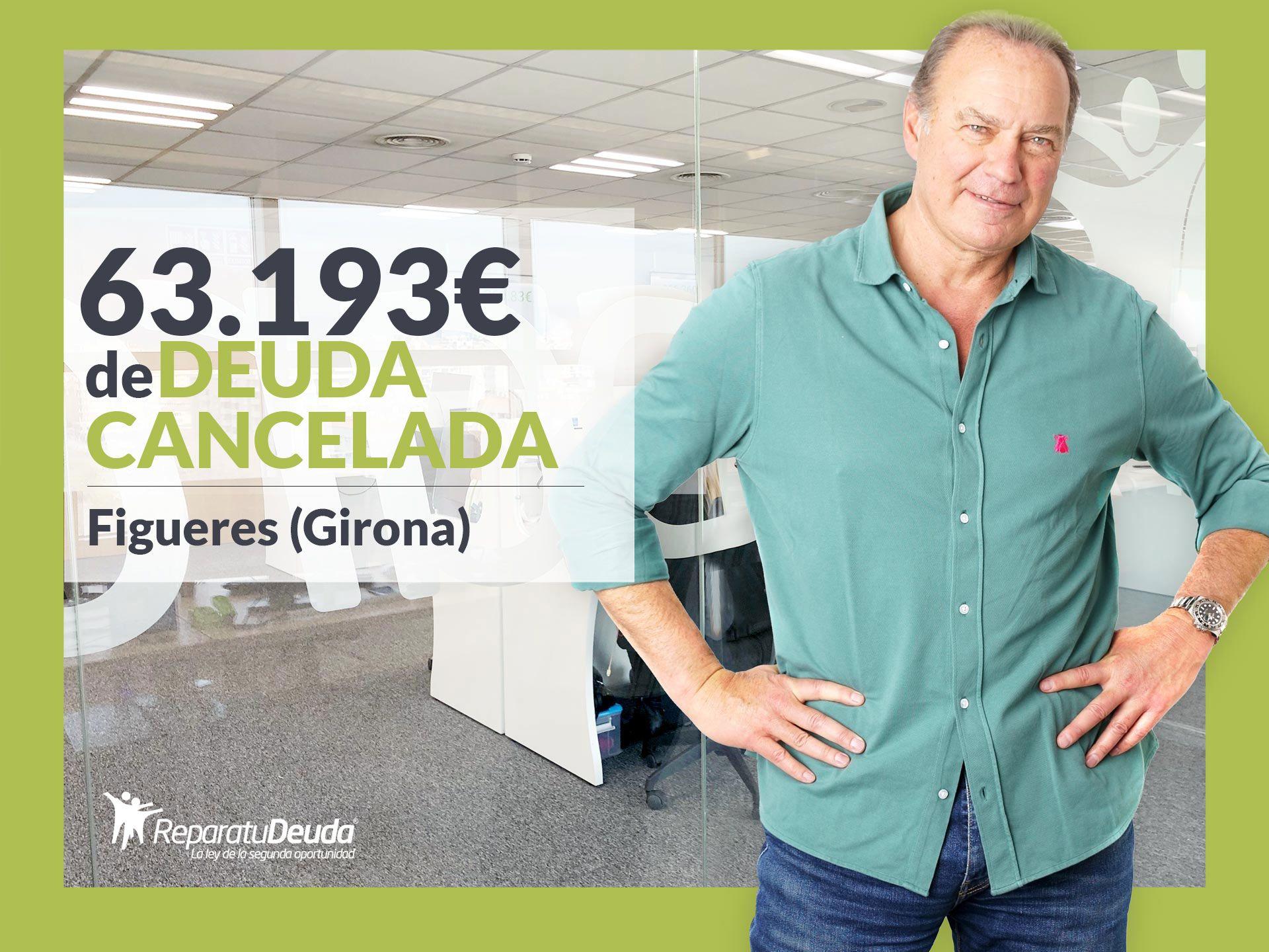 Repara tu Deuda cancela 63.193? en Figueres (Girona) con la Ley de la Segunda Oportunidad