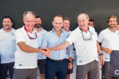 Axiance presenta el barco Elena Nova de Javier Sanz con el que competirá en la Copa del Rey de Vela