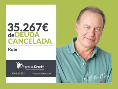 Repara tu Deuda Abogados cancela 35.267€ en Rubí (Barcelona) con la Ley de Segunda Oportunidad