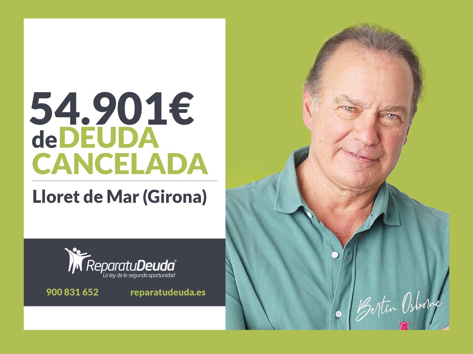 Repara tu Deuda Abogados cancela 54.901? en Lloret de Mar (Girona) con la Ley de la Segunda Oportunidad