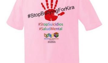 Camiseta solidaria contra el bullying y el suicidio